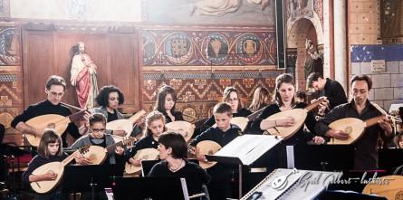 <titrephoto>photos</titrephoto> : participation de la classe de luth (prof. Cyril Gilbert) au concert musique Renaissance espagnole à l'église du Bailleul