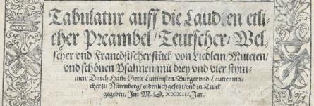 <titreaudio>audio</titreaudio> : <em>preambel</em> de Hans Gerle (1533)