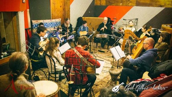 <titrephoto>photos</titrephoto> et <titrephoto>audios</titrephoto> : enregistrement en studio de la bande son d'un CD audio par <em> À Plaisir </em> (dir. Cyril Gilbert)