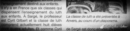 <titrephoto>article</titrephoto> : la classe de luth de l'EMM de Sargé (prof. Cyril Gilbert) présentée à Anvers (Belgique) lors des journées européennes du luth