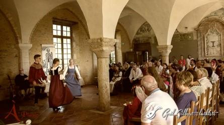 <titrephoto>photos</titrephoto> : intervention d'<em>À Plaisir</em> (dir. Cyril Gilbert) pour un mariage à l'abbaye de Rouez en Champagne