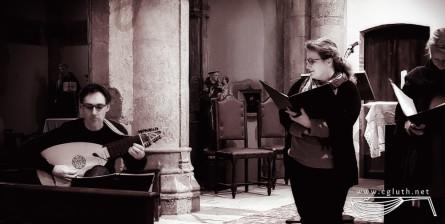 <titrephoto> photos </titrephoto> : répétition / concert avec le <em>Restoration Consort</em> à l'église St Antoine (Les Cabannes – Tarn)